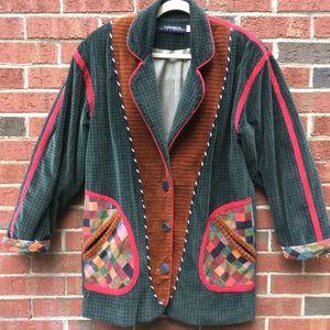 🎩BOHO Corduroy Blazer Jacket  Coat of Many Colors